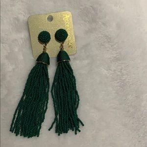Accessorize green beaded earrings